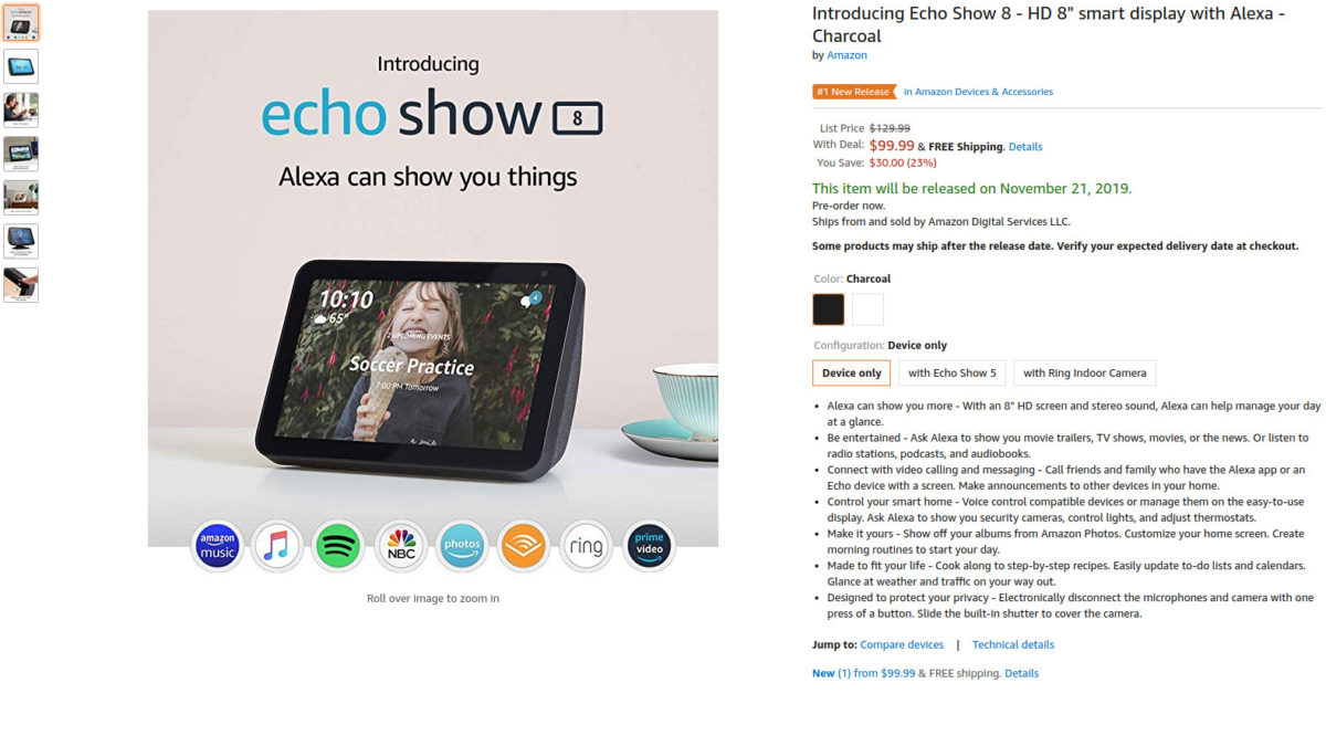 Deal: Get the Amazon Echo Show 8 for only $99 ($30 off) during pre-order sale
