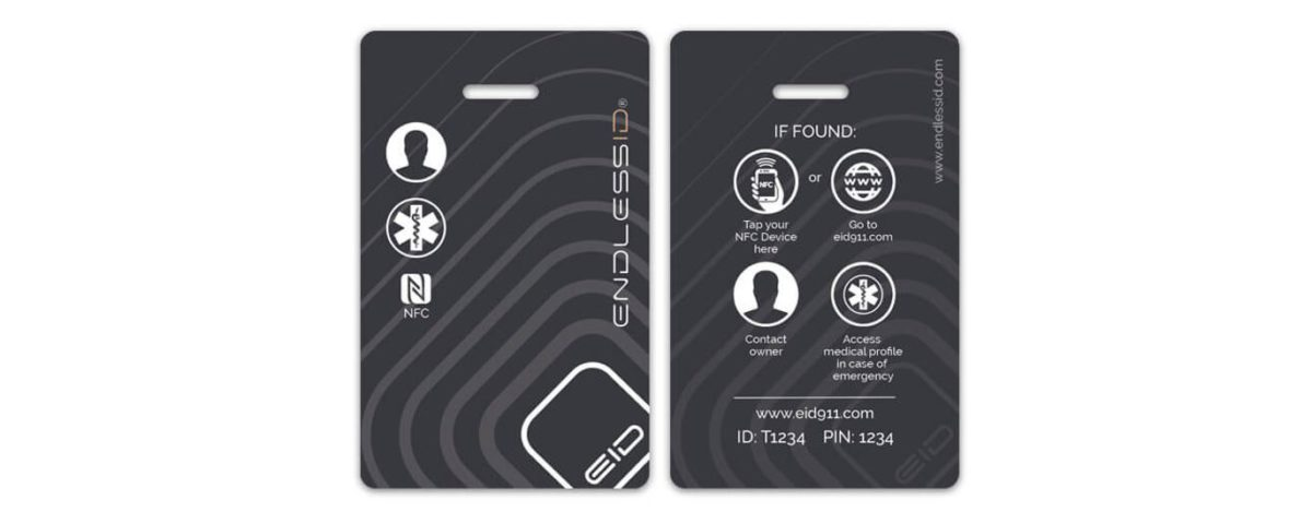 EndlessID Smart Luggage and Backpack Tag Close