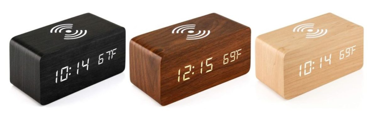 Deal: This wooden alarm clock and wireless charger is under $19