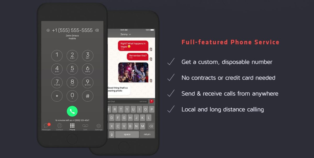 Hushed gives you a second private number for just $21