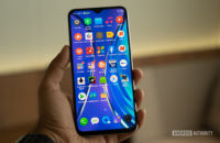 Realme XT in hand with apps