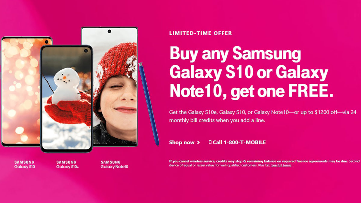 T Mobile DEals BOGO Samsung Galaxy