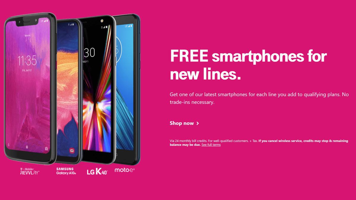T Mobile Deals Free Smartphones