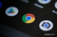 Chrome icon on smartphone 1