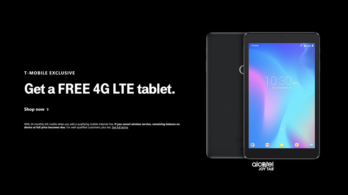 T Mobile Deals Free Tablet