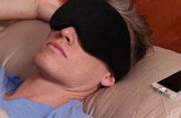 bt eye mask on