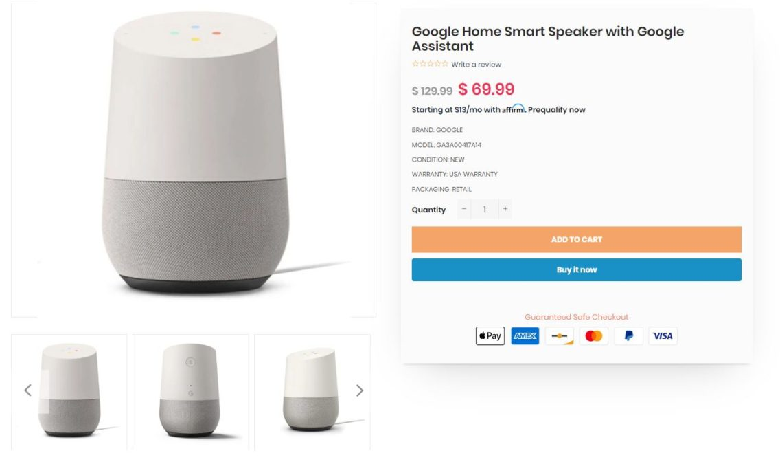 Google Home Smart Speaker Dailysteals