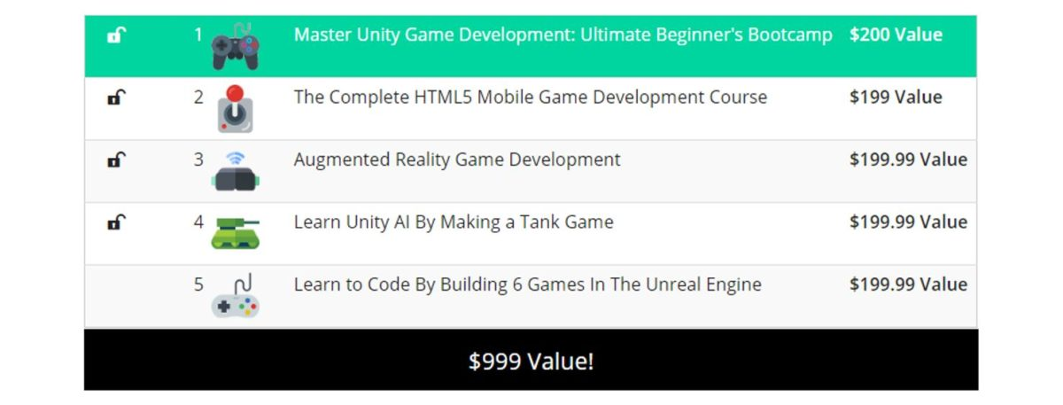 Pay What You Want The Unity Game Development Bundle