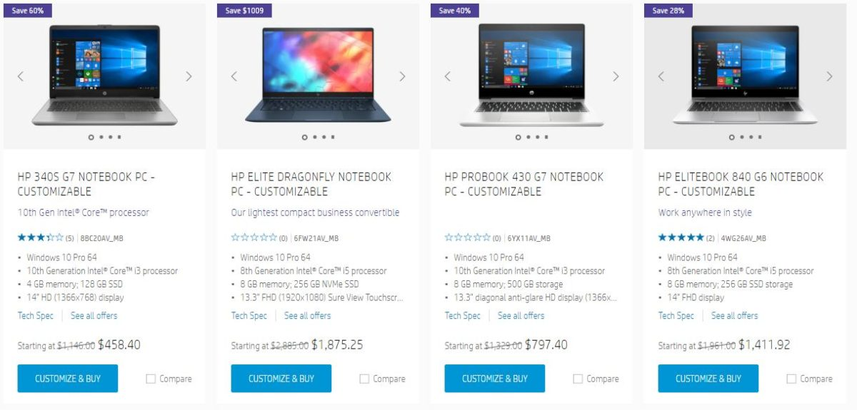 hp business laptop deals