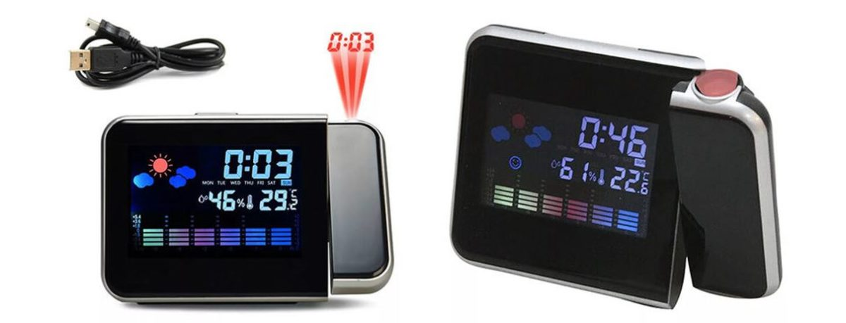Save 20% on this novel projection screen clock