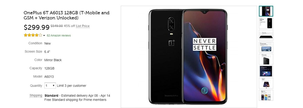 Great deal: Grab the OnePlus 6T unlocked for $299