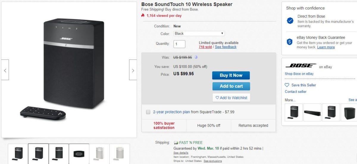 bose soundtouch 10 speaker deal