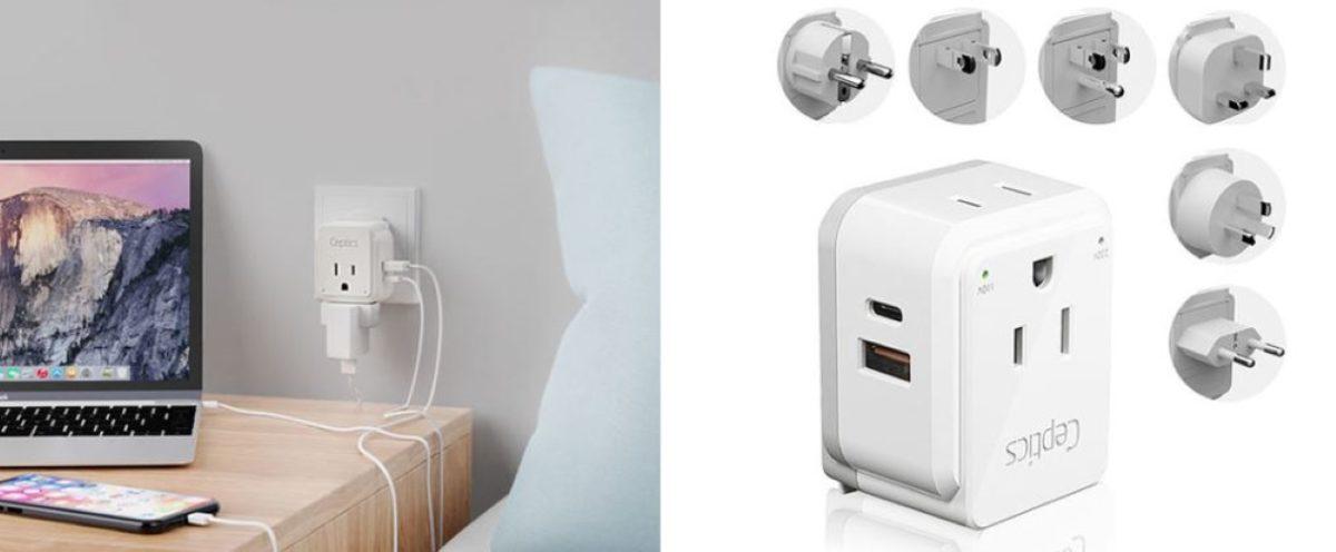 ceptics world travel plug adapter