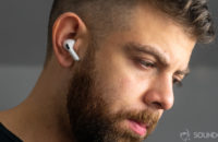 Apple AirPods Pro man wearing true wireless earbuds