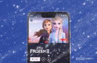 Frozen 2 on Disney Plus app with blue background 2
