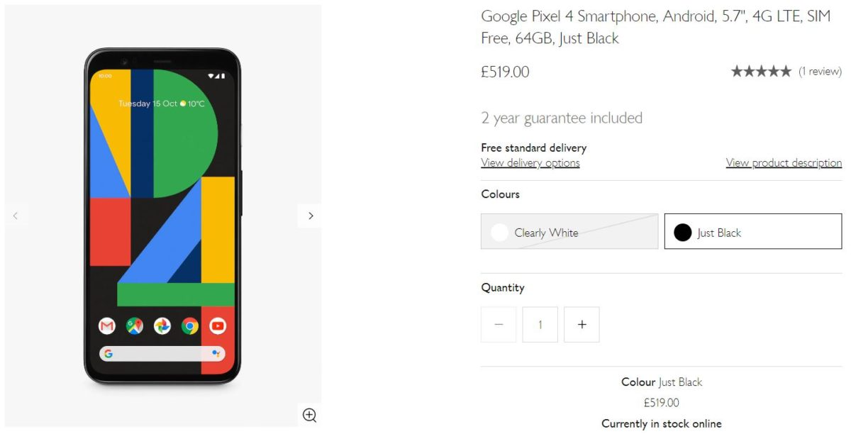 UK Google deals: save up to £170 on the Pixel 4 and 4 XL