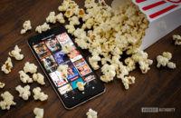 Netflix Originals next to popcorn stock photo 5
