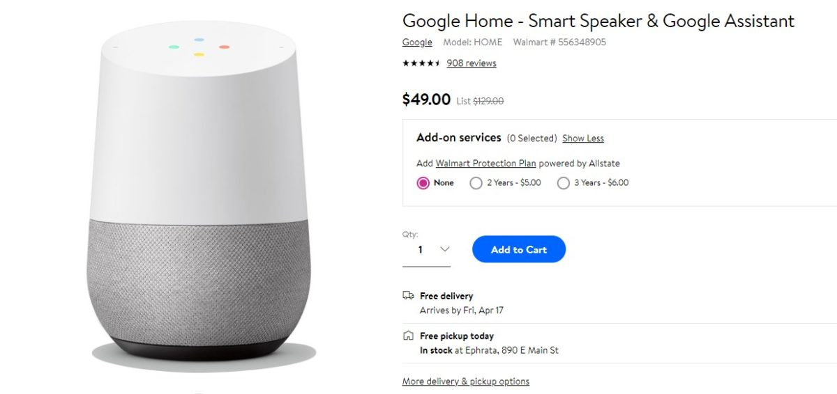 Grab a Nest Hub for $69.99 (46% off) or Google Home for $49 (62% off)