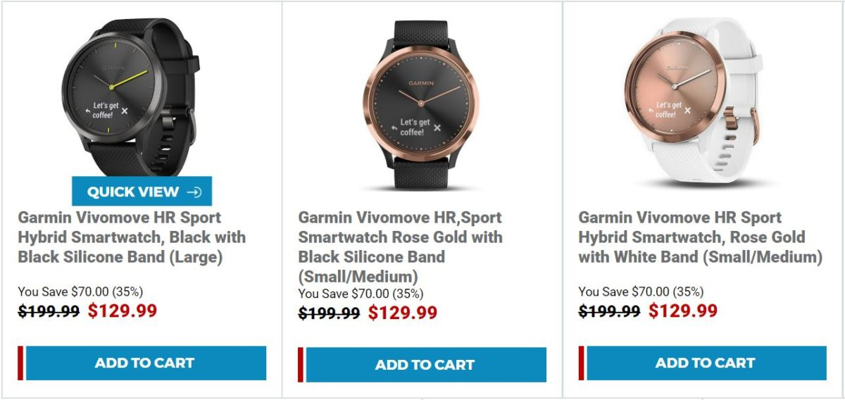 Garmin Vivomove HR Sport Smartwatch Buydig Sale