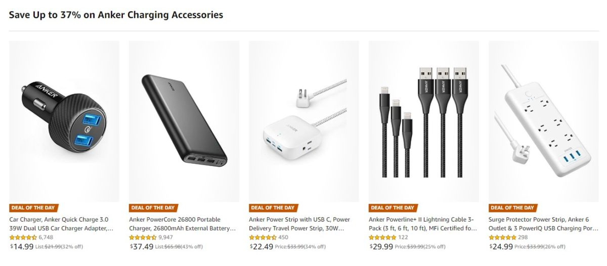 Deal: Save up to 37% on Anker charging accessories