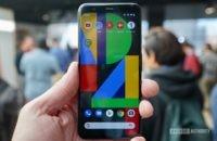 Google Pixel 4 black front