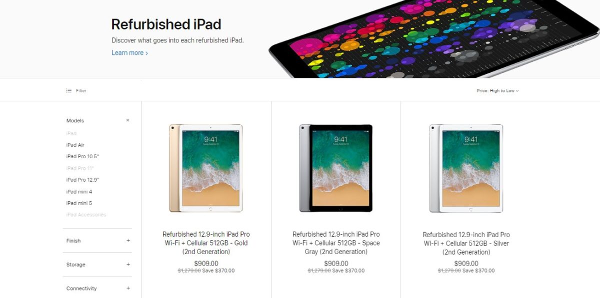 refurbished iPad deals