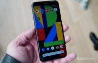 Google Pixel 4 in hand angled