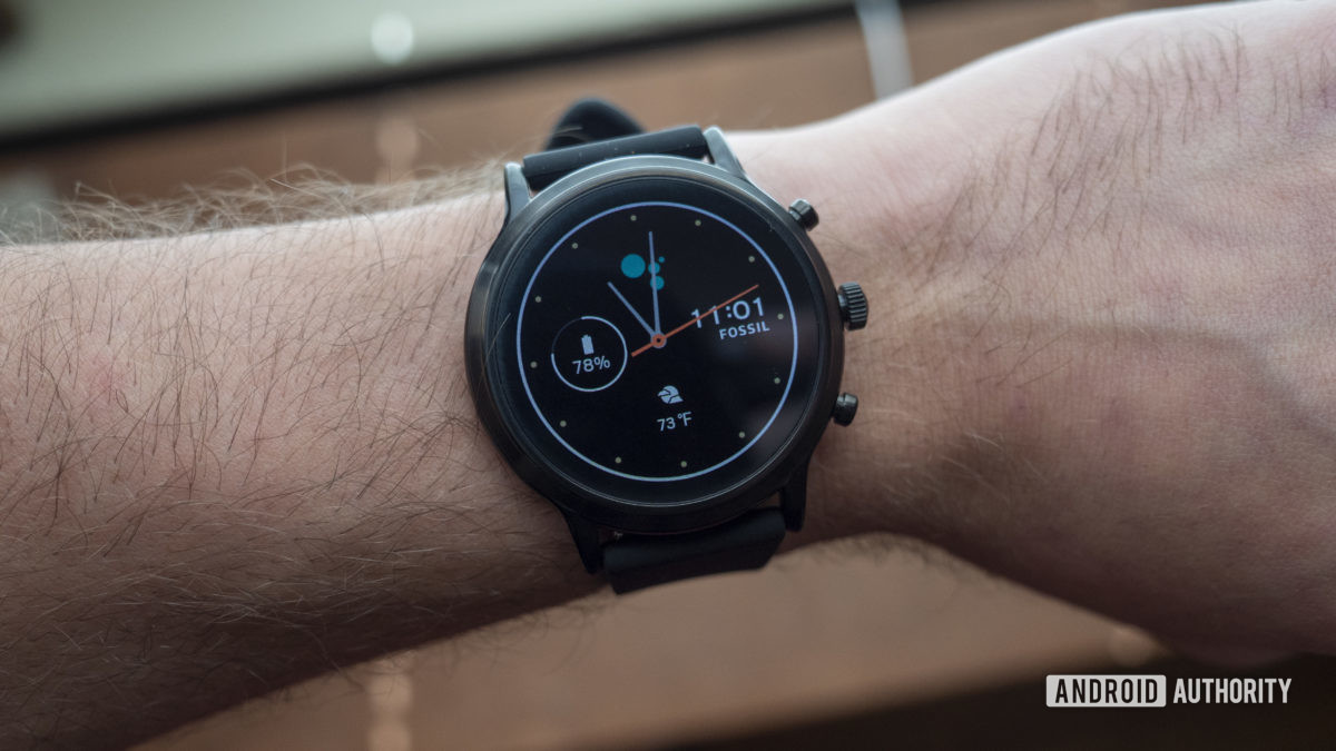 fossil gen 5 smartwatch review on wrist watch face display 3