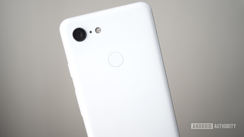google pixel 3 back clearly white camera fingerprint sensor